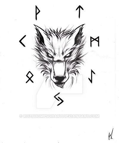 e74bd455c last pinner said >> Fenrir tattoo design. Please ask me if you would like  to use this.