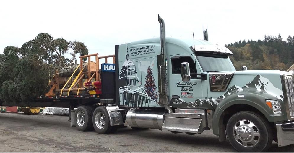 Historic Trip For U S Capitol Tree Kenworth W990 Camiones Autos