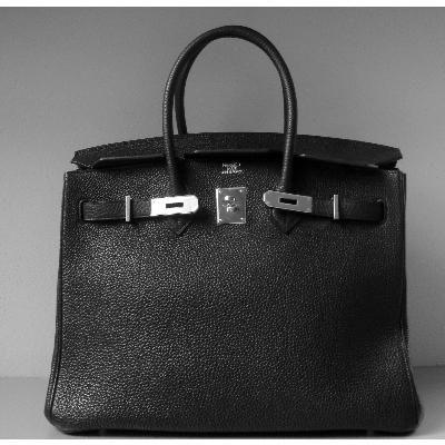 Birkin Black in togo leather, Palladium hardware. The bag of all bags.