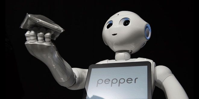 El robot Pepper ahora atiende una tienda de electrónica http://j.mp/1RR9mvF |  #Japon, #Noticias, #Pepper, #Robot, #Sobresalientes, #Tecnología, #Trabajo