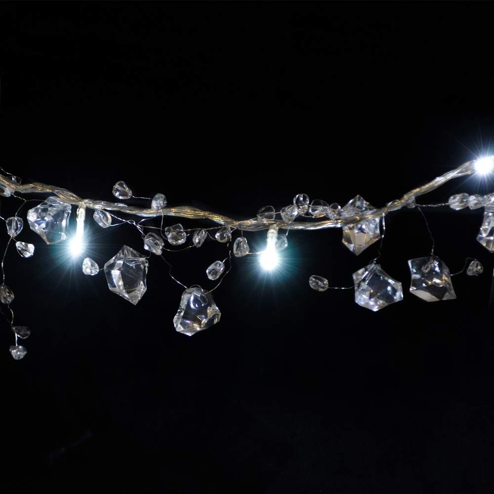Ice Cluster White Crystal Garland