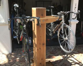 Wood Bike Stand van bikeffects op Etsy