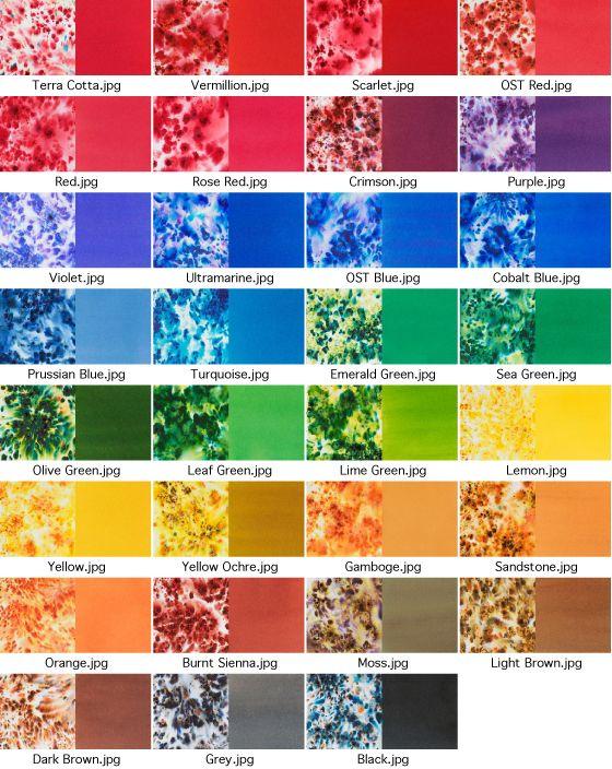 Ken Oliver Colorburst Color Chart Google Search