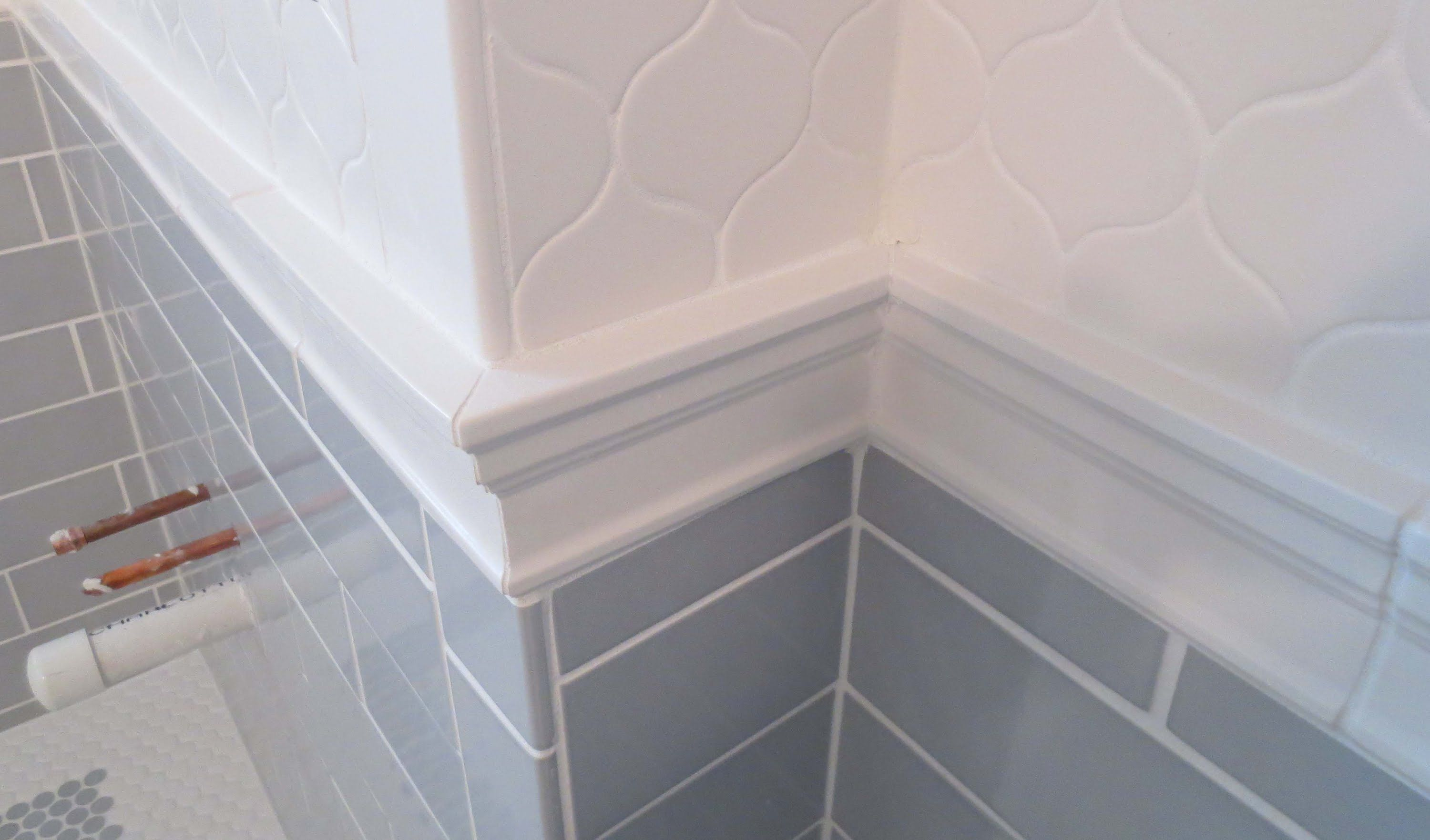 Complete Bathroom Schluter Systems Products Part 5 Installing Cornice Molding Or Chair Rail Bathroom Wall Tile Tile Bathroom Floor Molding