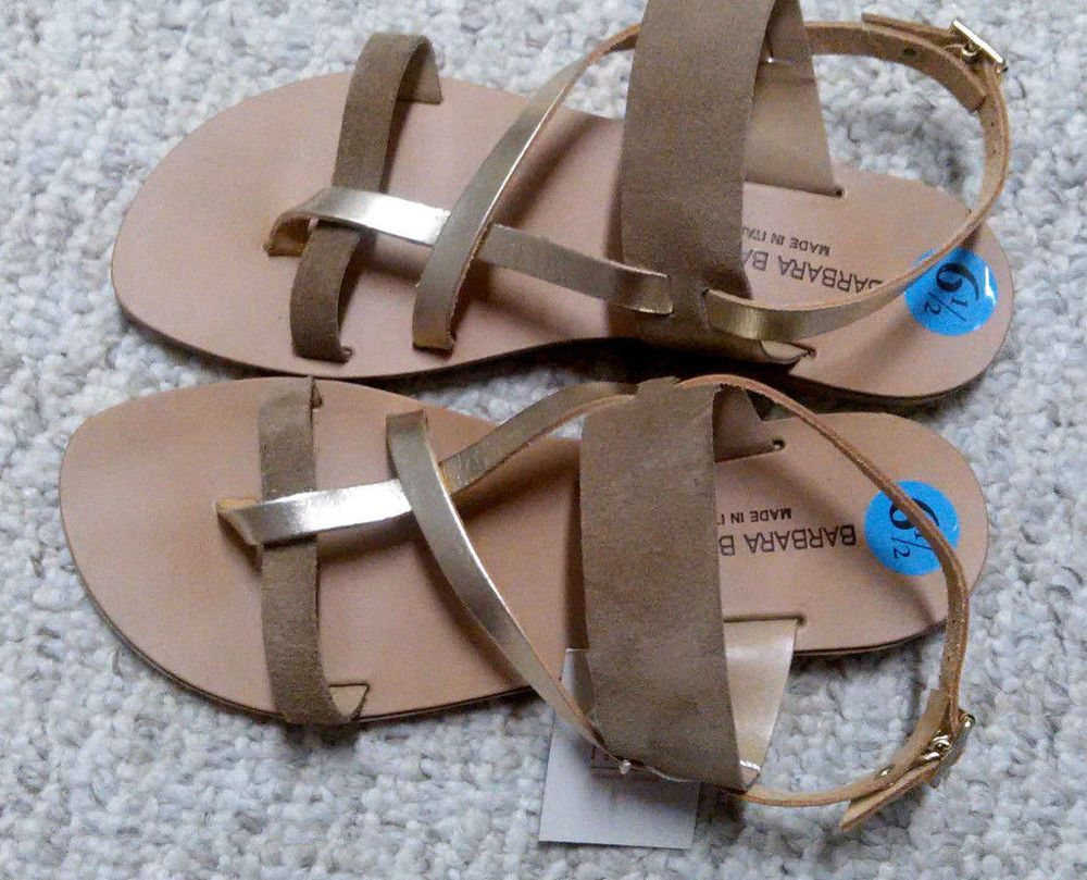 0bdae03e15206 Barbara Barbieri Genuine LEATHER Beige Gold Women Strap Summer Sandals Size  6.5  fashion  clothing  shoes  accessories  womensshoes  sandals (ebay link)