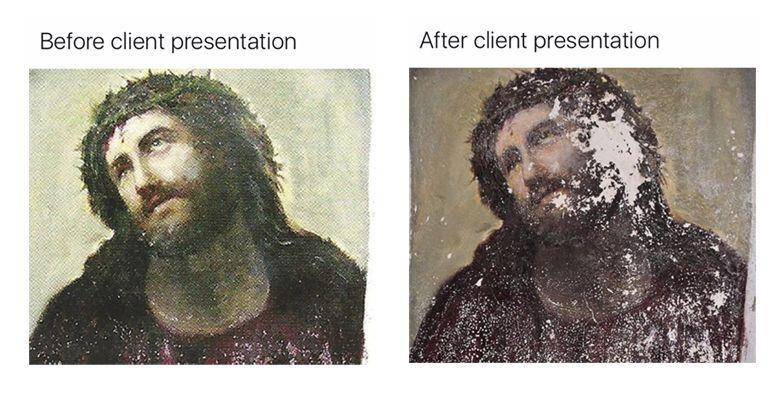29 Memes That Ll Make Every Designer Laugh Jesus Painting Spanish Artwork Fresco