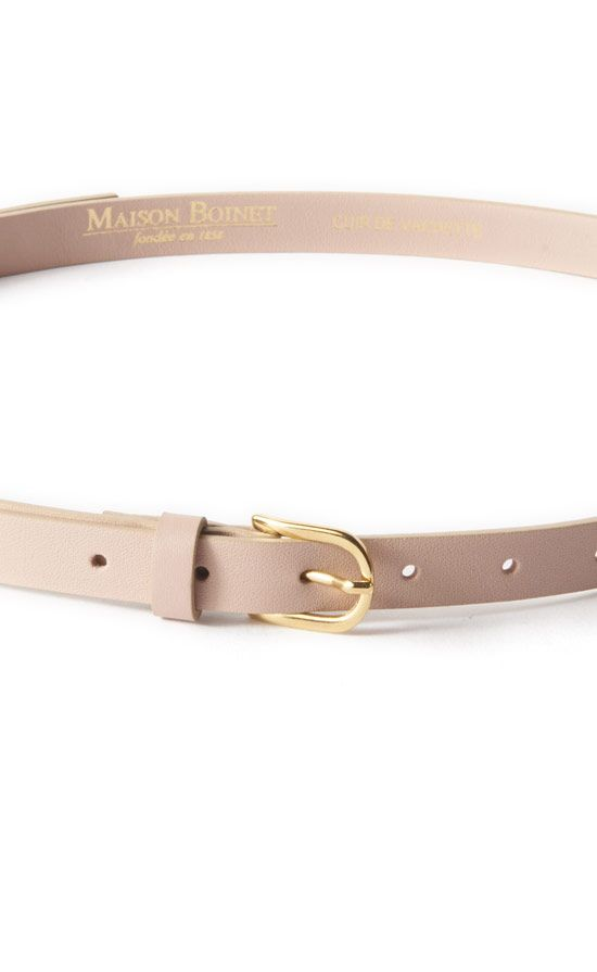 Skinny Belt With Gold Buckle