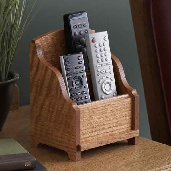 Remote Control Holder Woodworking Plan From Wood Magazine Remote Control Holder Easy Woodworking Projects Wood Crafting Tools