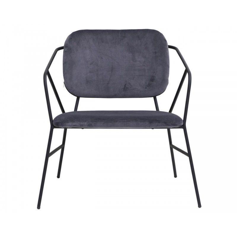 Fotel KLEVER szürke House doctor, Chair, Lounge chair