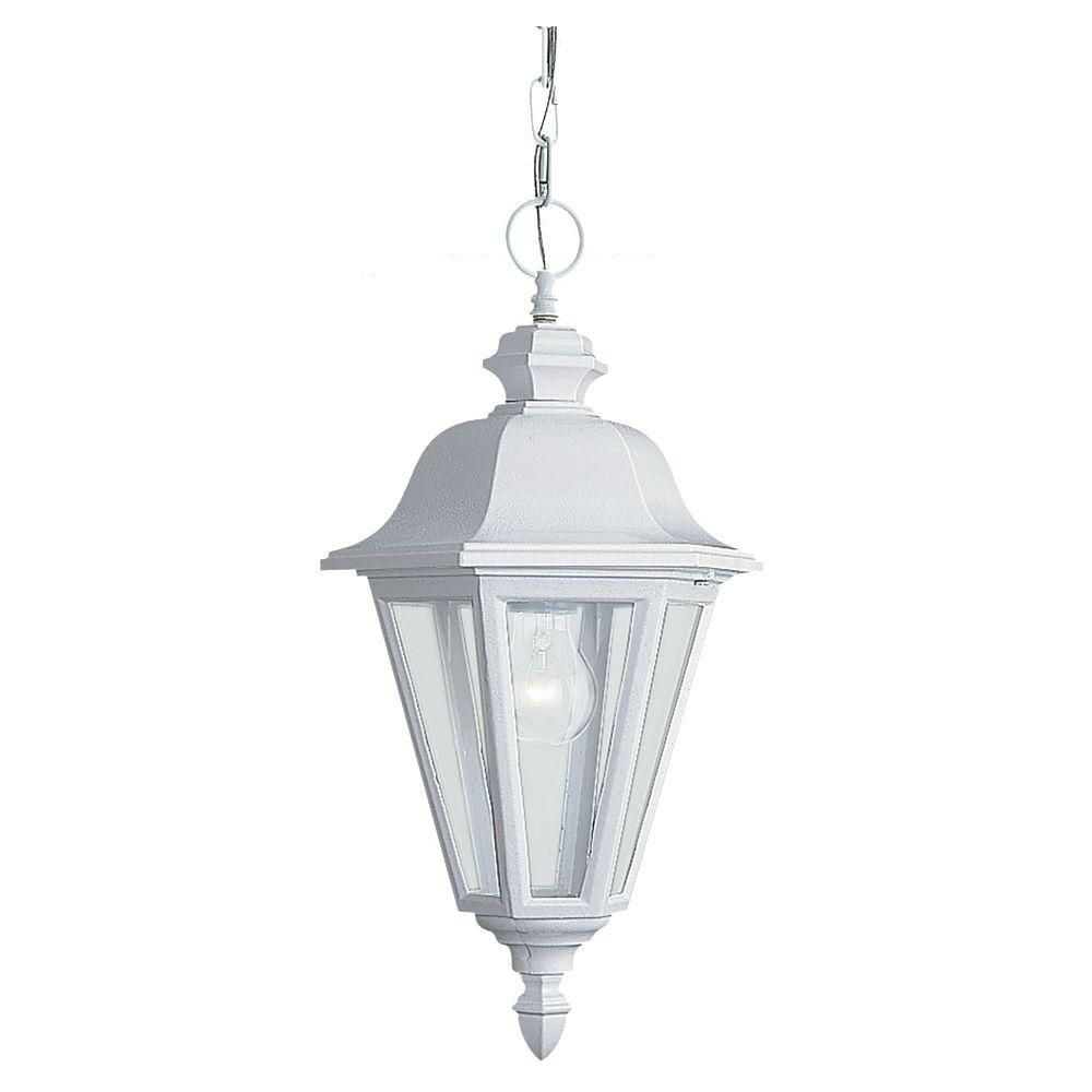 Bwood 1 Light White Outdoor Pendant