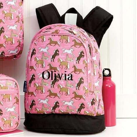 Horses on Pink Backpack