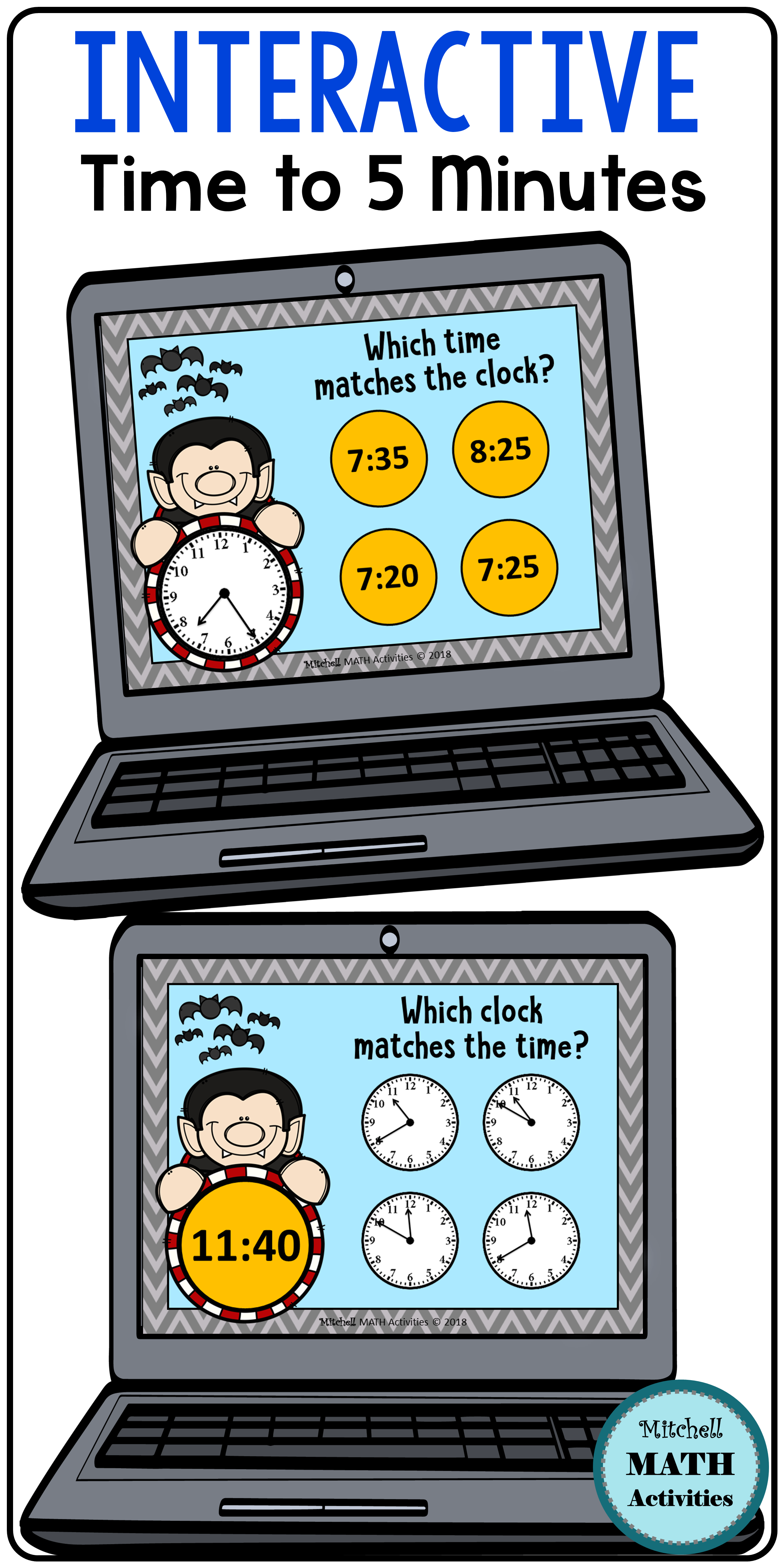 Click And Check Telling Time To 5 Minutes