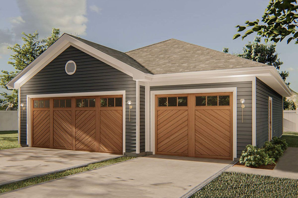 3 Car Garage with 2 Exteriors