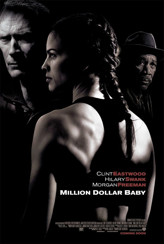 Million Dollar Baby, tema poco común,no podía ser menos de Clint Eastwood.Una de las pocas que me bota lágrimas.