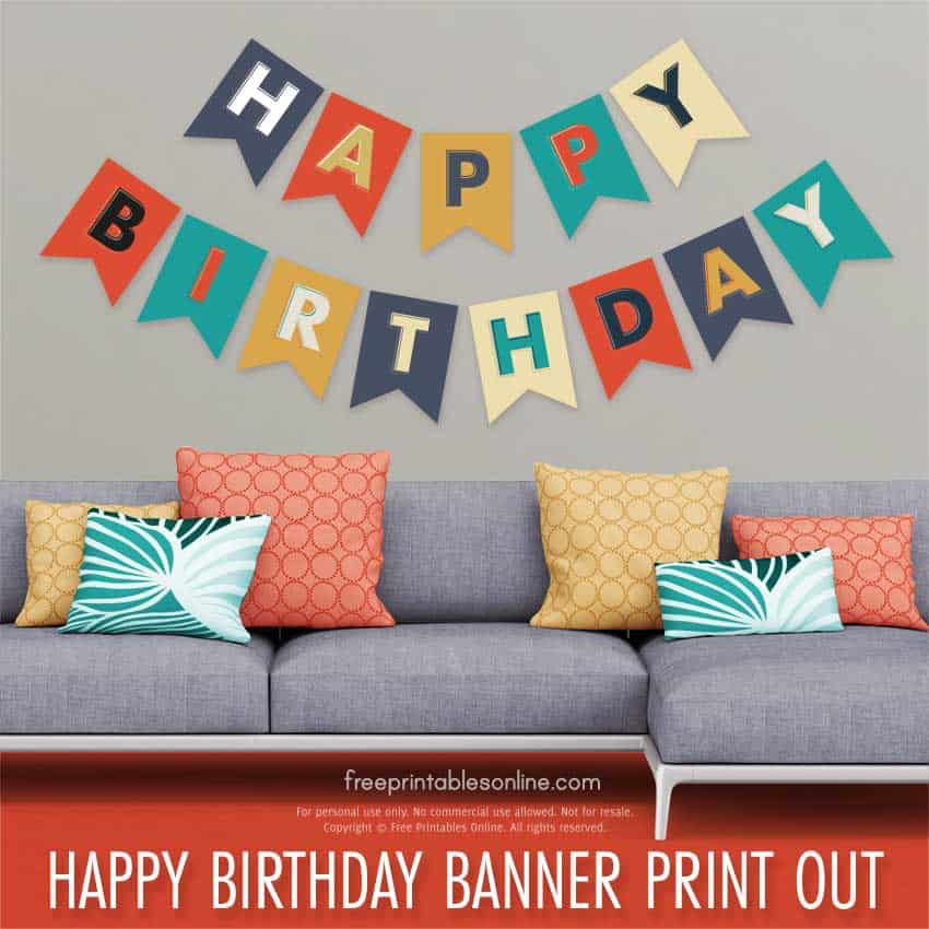 Happy Birthday Banner Print Out | Happy birthday banner ...
