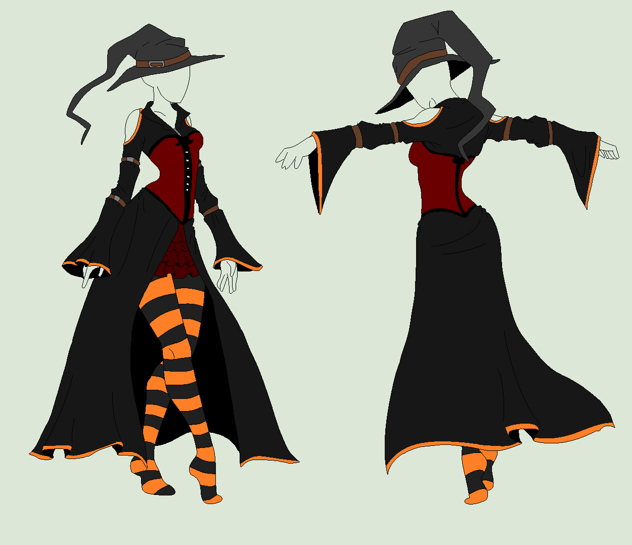 Outfit Adopt - Halloween Witch - SOLD by ShadowInkAdopts ...