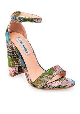 63c61ff9b0d3 Steve Madden Women s Carrson Block Heel Sandal - Bright Multi - 9.5M