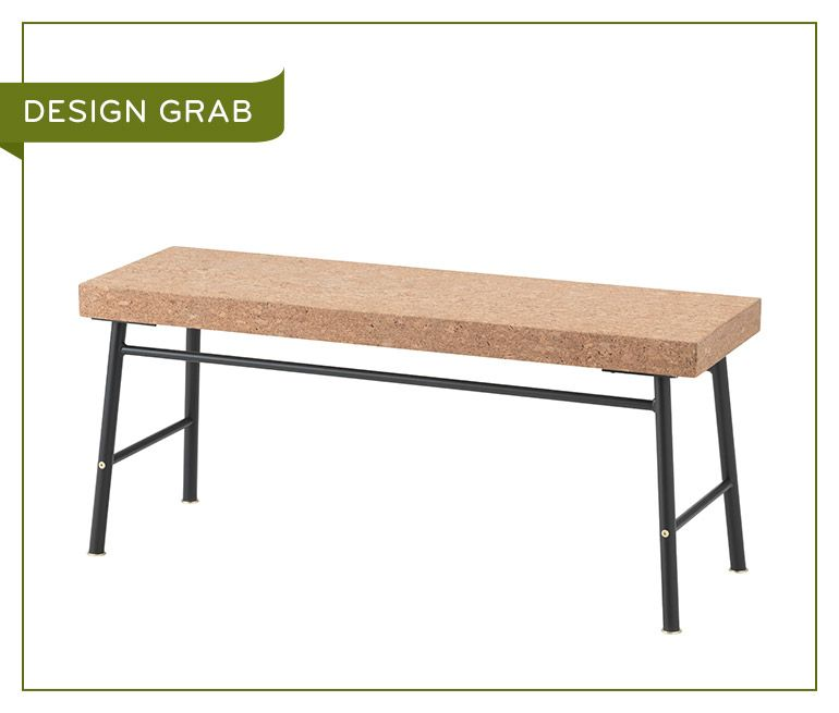 ikea sinnerlig bench | this cork bench feels soft to the touch