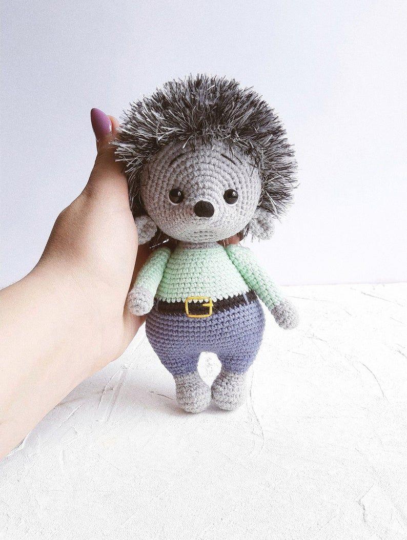 Hedgehog Toy Amigurumi Hedgehog Plush Stuffed Hedhehog Etsy Crochet Hedgehog Stuffed Toys Patterns Crochet Animal Amigurumi [ 1054 x 794 Pixel ]