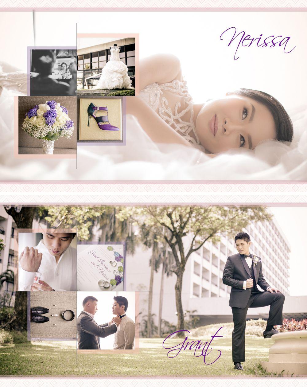 8x10 Wedding Album Layout #JustMarried #GrantAndNerissa