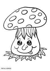 Autumn Mushroom Coloring Coloringpages Coloringpagesforkids Autunno Funghi Scoprite I Funghi Da Colorare Disegni Disegni Di Frutta Disegni Da Colorare