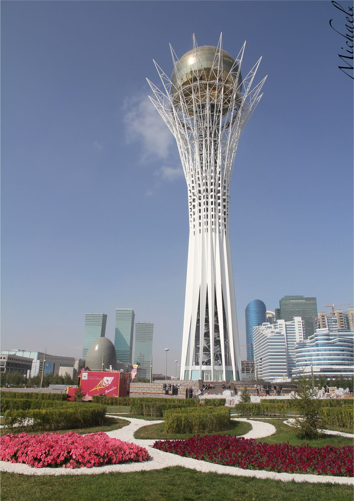 Bayterek observation tower of Astana, Kazakhstan