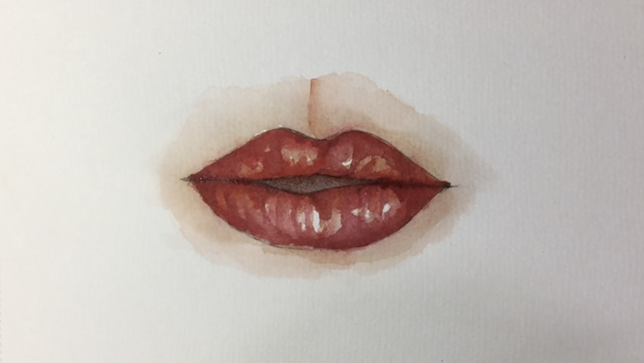 Lippen malen: Videoanleitung in Aquarell
