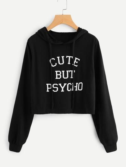 Cute but psycho pullover fashion crop sweater | Outfits for