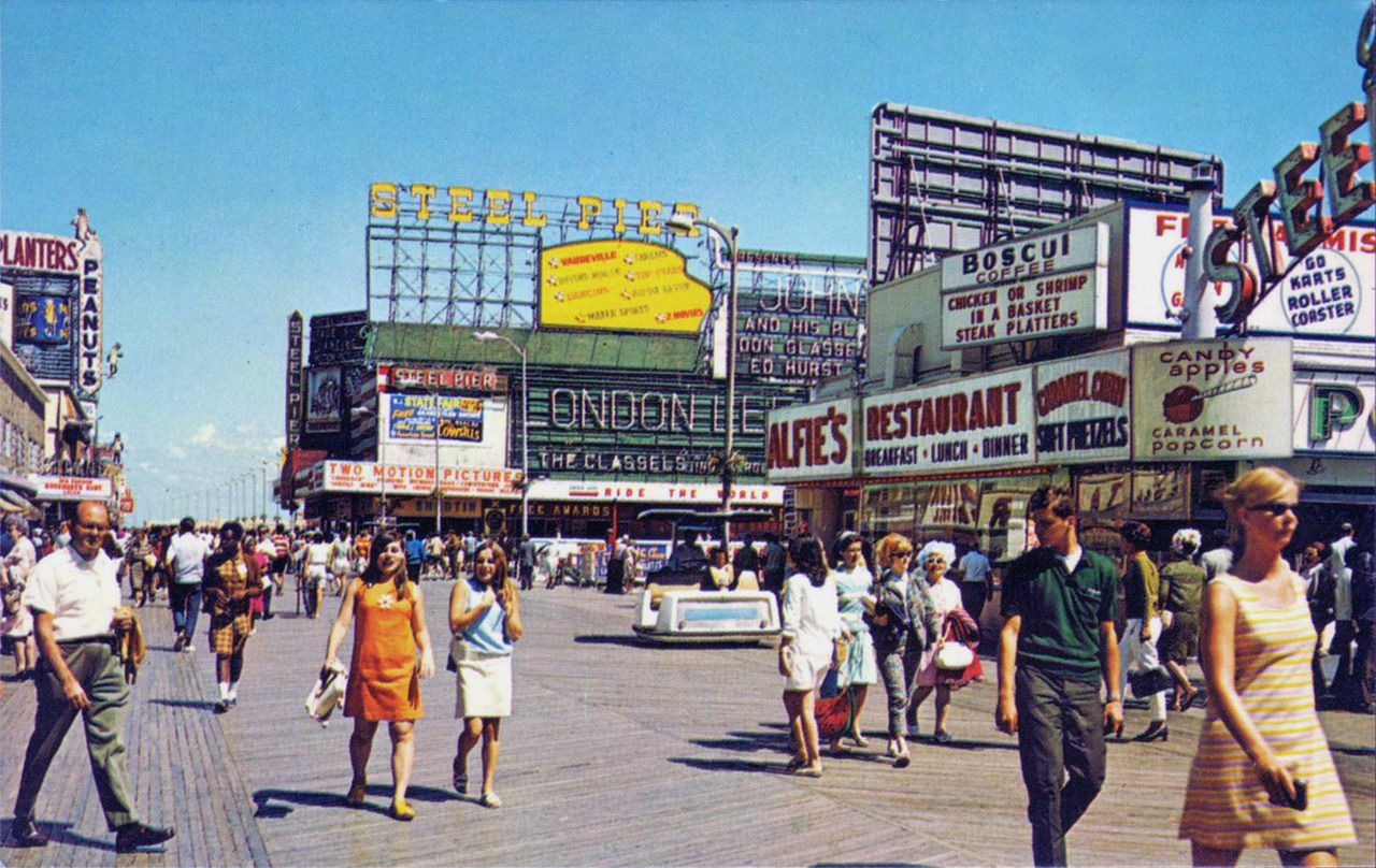 1960s Steel Pier Atlantic City Boardwalk New Jersey Atlantic City Boardwalk Atlantic City Nj Beaches