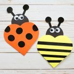 Valentine Heart Cards: Ladybug And Bee Cards For Kids To Make images