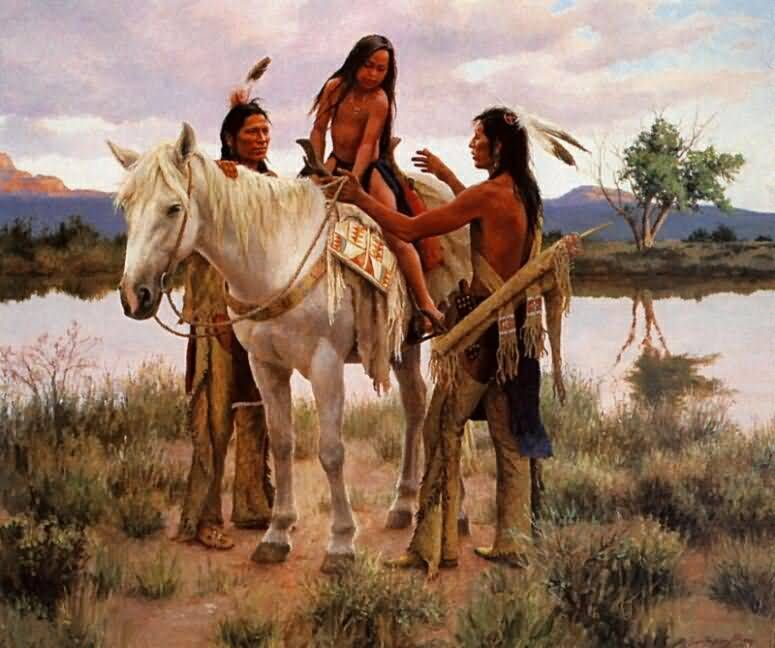 Howard Terpning First Pony Native American Art Native