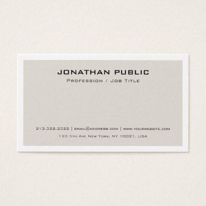 Trendy minimalistic modern elegant beige design business card trendy minimalistic modern elegant beige design business card create your own gifts personalize cyo custom reheart Gallery