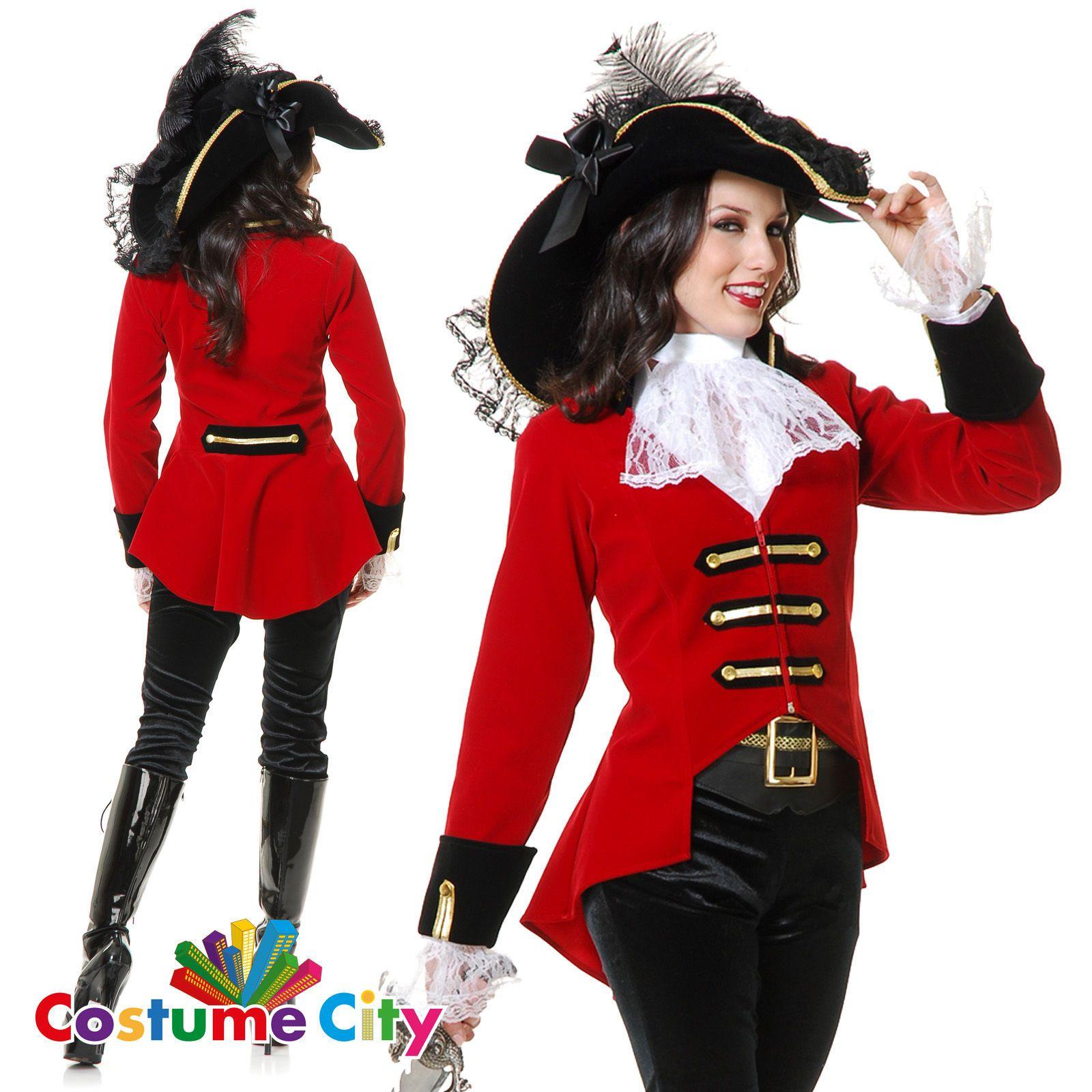 Adult Womens Page Boy Pirate Lady Buccaneer Fancy Dress Halloween ...