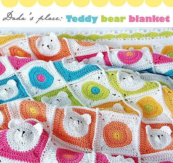 Teddy Bear Crochet Baby Blanket pdf pattern & step-by-step | crochet ...