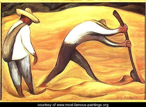 Peasants 1947 - Diego Rivera. Love this one!!!