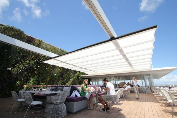 Retractable Awning Rooftop Terrace Design Penthouse View Outdoor Restaurant