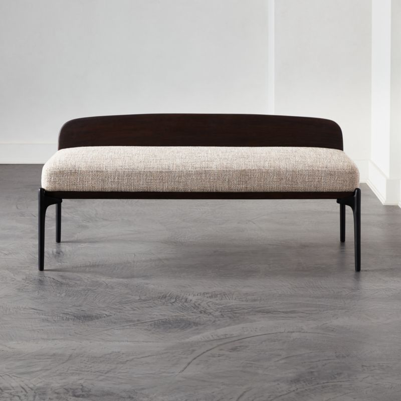 Castafiore Upholstered Bench Reviews Cb2 In 2020 Upholstered Bench Modern Storage Bench Furniture