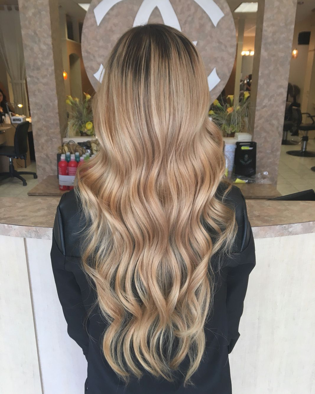 Blonde Hair Long Hair Hand Painted Balayage Highlights Rooted Lived