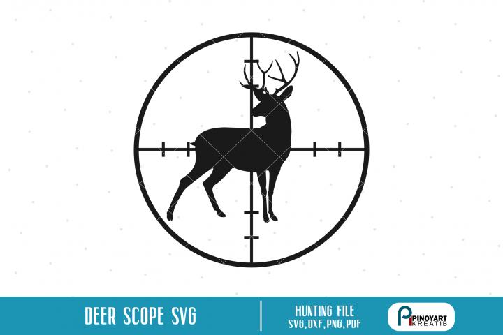 Deer in Scope svg a deer hunt vector file (188091
