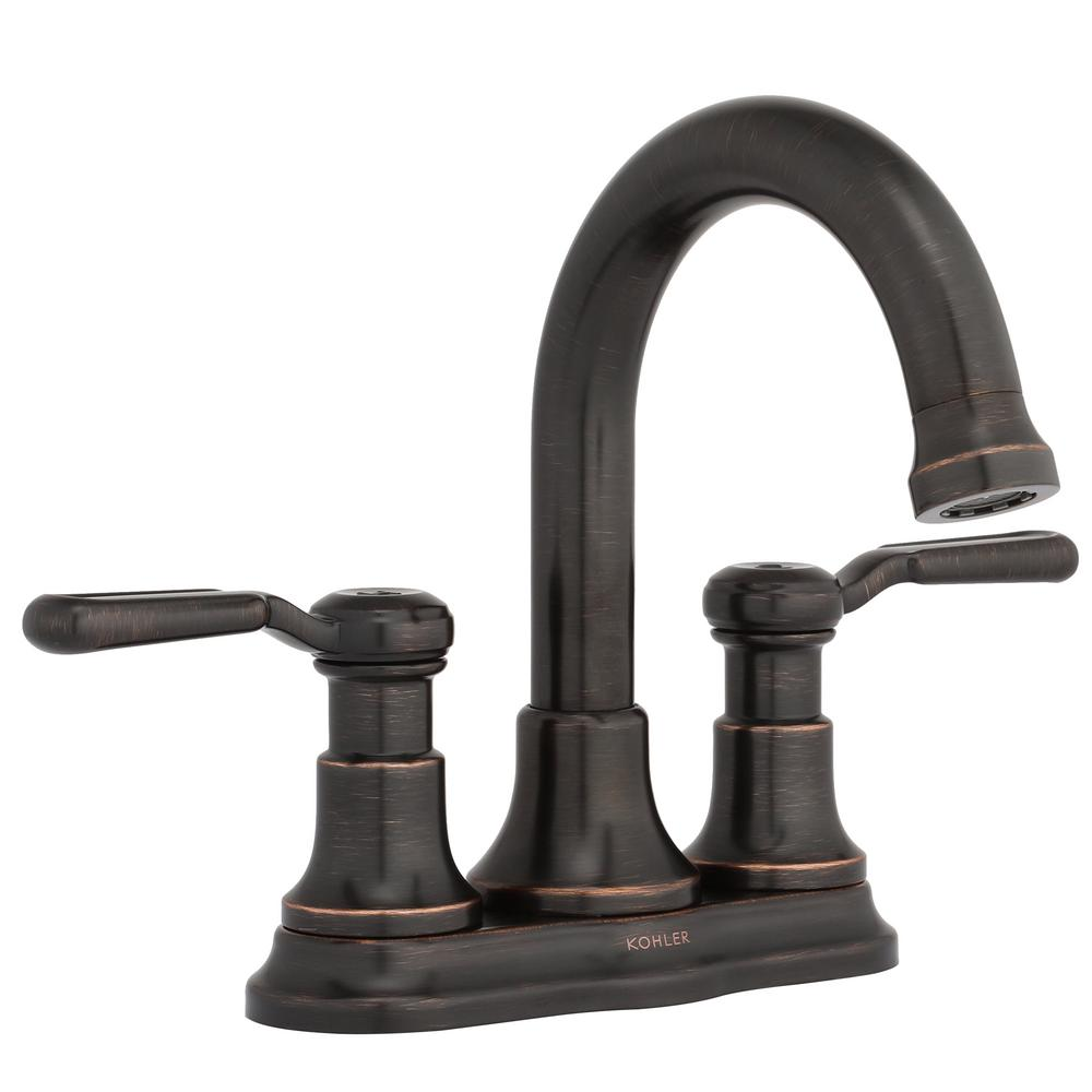 Kohler Worth 4 In Centerset 2 Handle Bathroom Faucet In Oil