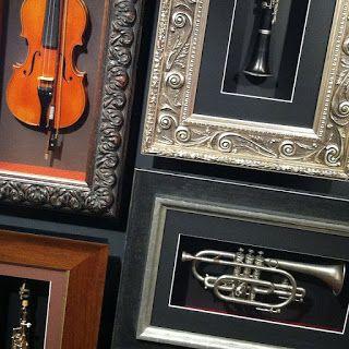 Framed Musical Instruments Shadow Box Frames Custom Framing