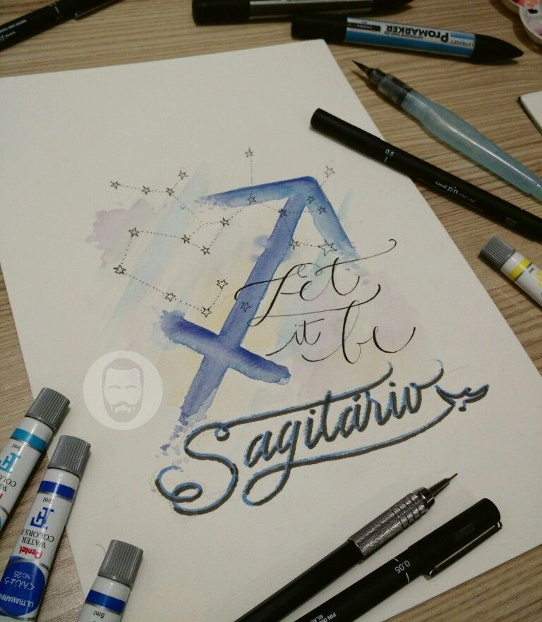 Signs astrology horoscope drawing art calligraphy