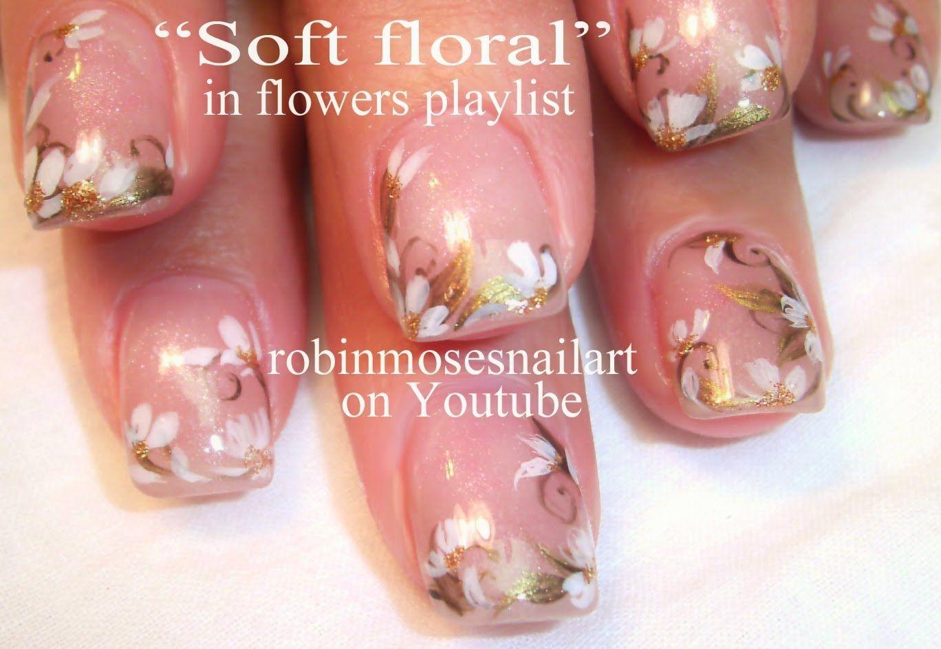 Soft White Flower Nail Art Flower Nail Art Gallery With Full