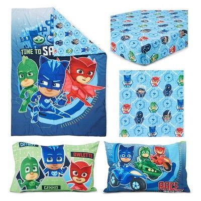 Pj Masks Toddler Bedding Set Blue With Images Toddler Bed Set