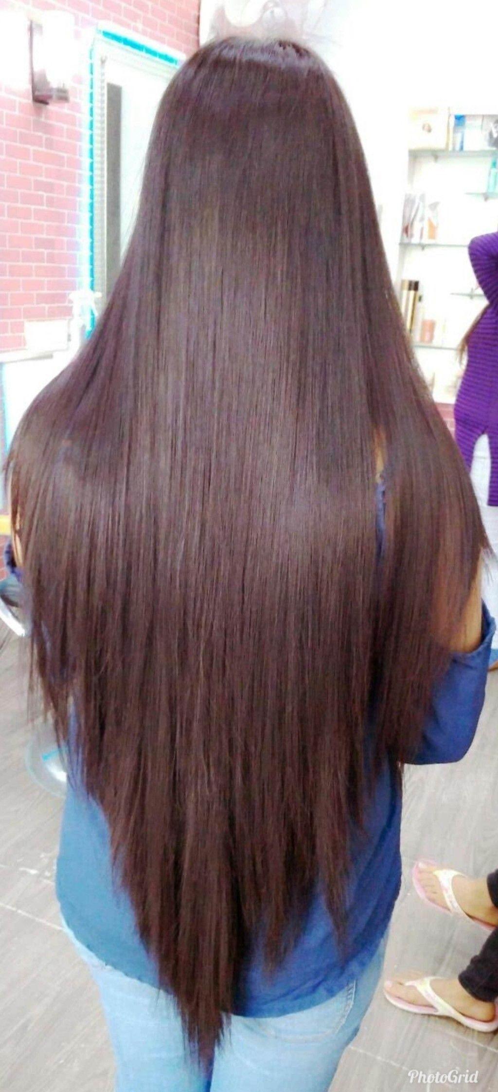 Cortes de cabello largo en uve