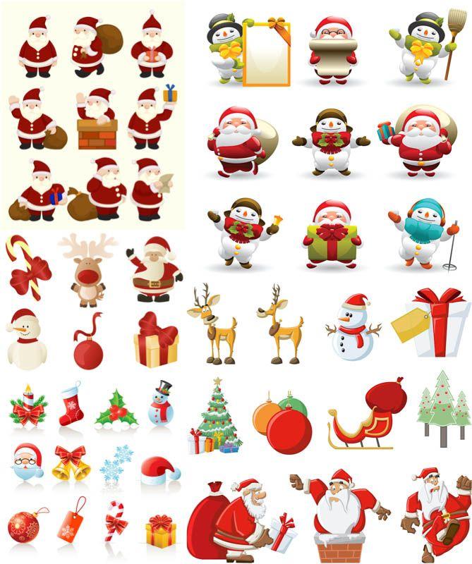 Christmas Santa Claus Illustrations Vector Christmas Art Christmas Graphic Design Christmas Vectors