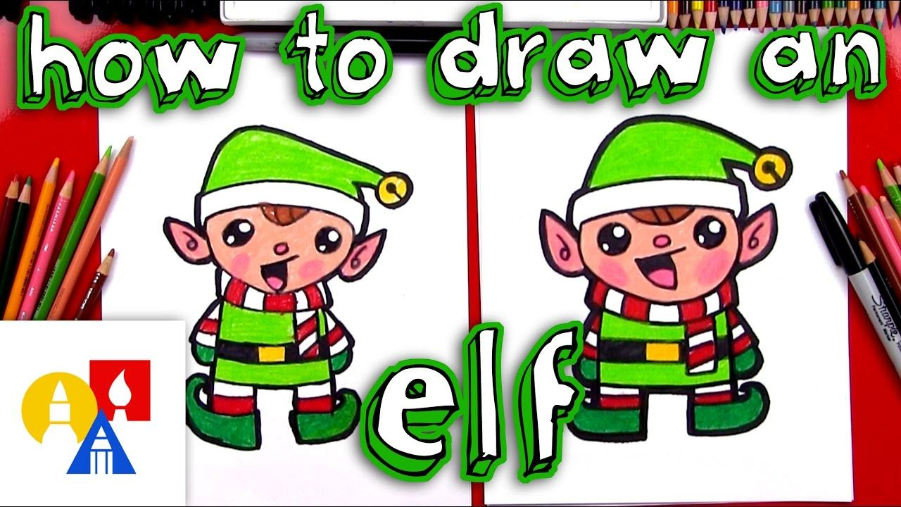How To Draw A Cartoon Christmas Elf | Art for kids hub ...