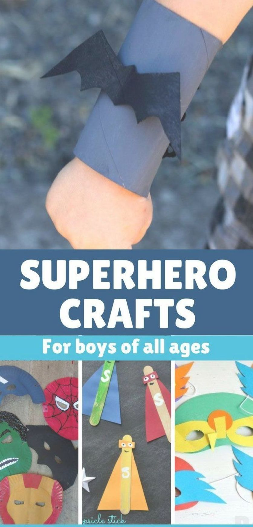 If you need superhero crafts, we have you covered!  #superheroes #superhero #crafts #superherocrafts #superherocrafts