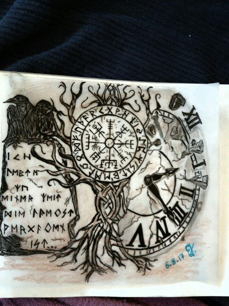 Pin von AnLi auf Meine Götter | Wikinger tattoos, Tattoo