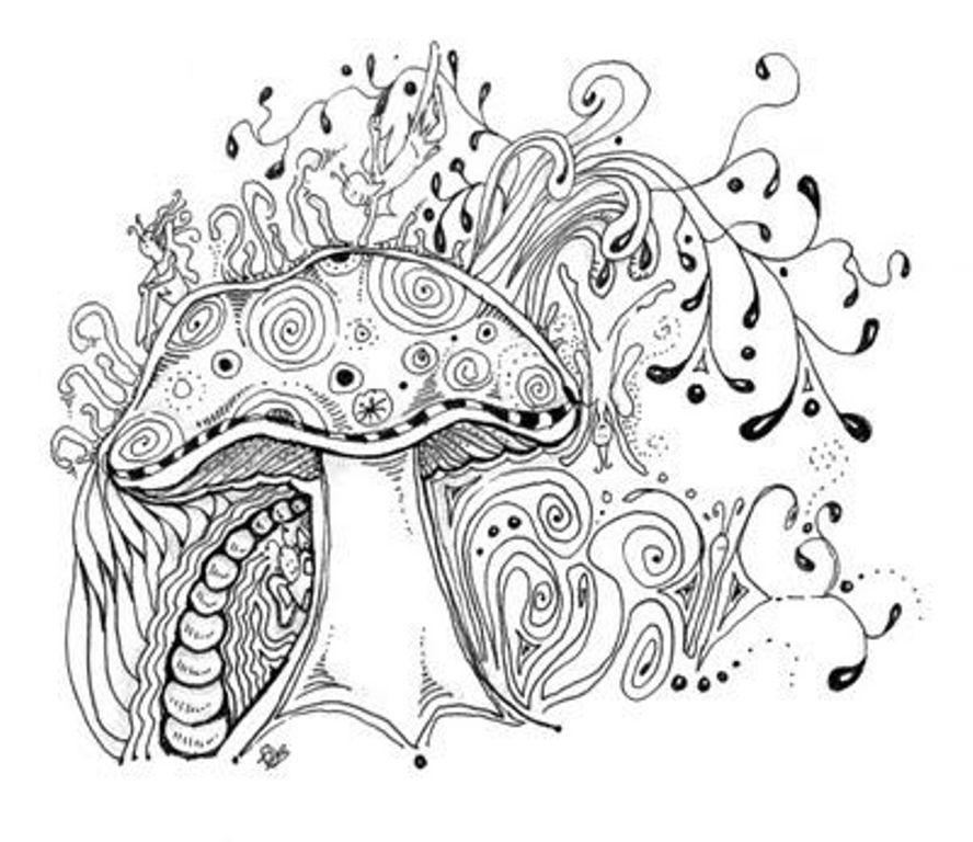 ДУДЛИНГ | Медитативные узоры, Искусство изображения грибов ...